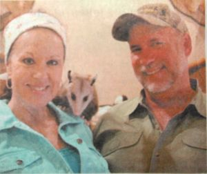 Trapper Suzy, Trapper John, and Libby the possum